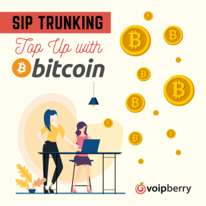 Bitcoin SIP trunking Top Up