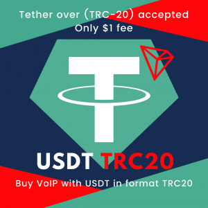 Buy VoIP with crypto USDT Tether TRC-20